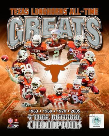 University of Texas Longhornss All Time Greats Composite
