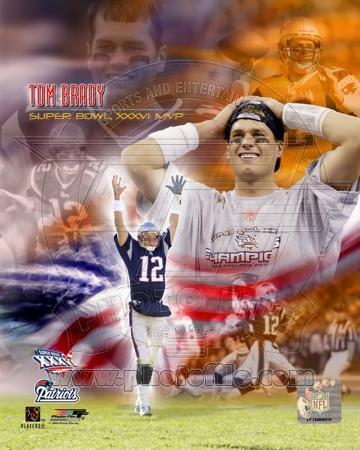 Tom Brady SB XXXVI MVP Portrait Plus