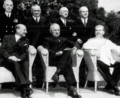 "The new ""Big Three"" at the Potsdam Conference, 1945"