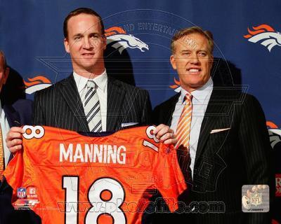 Peyton Manning & John Elway 2012 Press Conference