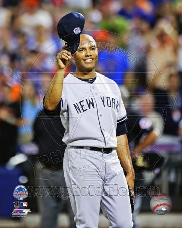 New York Yankees Mariano Rivera #42 salutes the crowd 84th MLB All-Star Game July 16, 2013