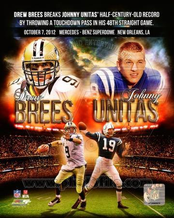 Drew Brees breaks Johnny Unitas' record October 7, 2014