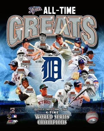 Detroit Tigers All Time Greats Composite