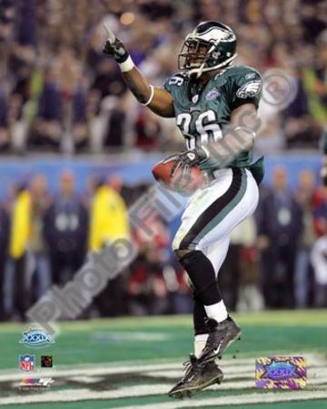 Brian Westbrook - Super Bowl XXXIX - 10 Yard Touch Down Pass Celebration
