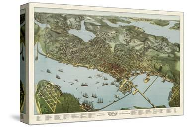 Map of Seattle, Washington, 1891