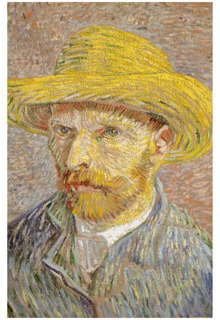 Self Portrait with Straw Hat 1887