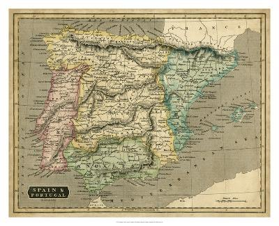 Thomson's Map of Spain & Portugal