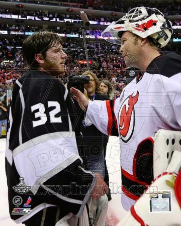 New Jersey Devils, Los Angeles Kings - Martin Brodeur, Jonathan Quick Photo