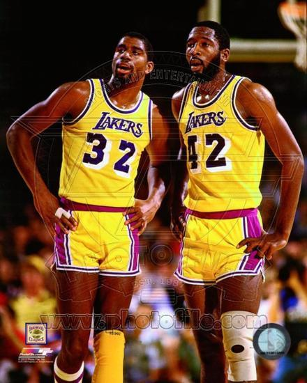 new product 6d7cb 37c4a Los Angeles Lakers - Magic Johnson, James Worthy Photo