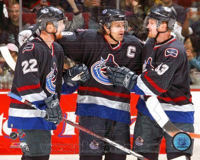 Vancouver Canucks - Markus Naslund, Daniel Sedin, Henrik Sedin Photo