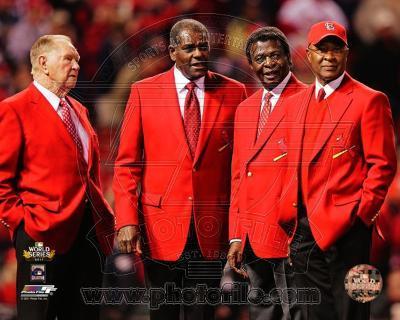 St Louis Cardinals - Lou Brock, Ozzie Smith, Red Schoendienst, Bob Gibson Photo