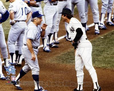 New York Yankees, Los Angeles Dodgers - Lou Piniella, Tommy LaSorda Photo
