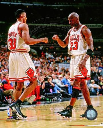 Chicago Bulls - Michael Jordan, Scottie Pippen Photo