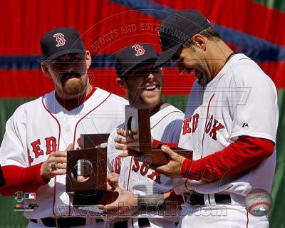 Boston Red Sox - Mike Lowell, Kevin Youkilis, Dustin Pedroia Photo