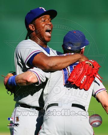 Texas Rangers - Michael Young, Neftali Feliz Photo