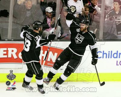 Los Angeles Kings - Willie Mitchell, Jeff Carter Photo