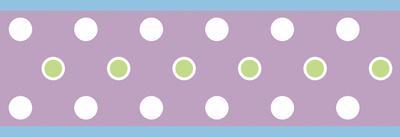 Dot Peel & Stick Border Wall Decal - Purple