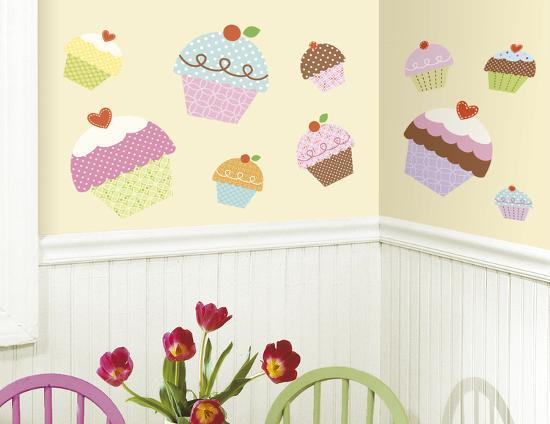 Happi Cupcake Peel & Stick Giant Wall Decal Wall Decal At