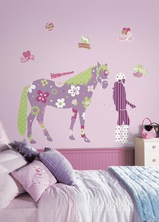 Horse Crazy Peel & Stick Giant Wall Decal