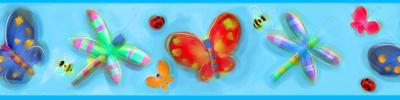 Jelly Bugs Peel & Stick Border Wall Decal