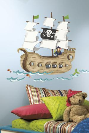 Pirate Ship Peel & Stick Giant Wall Decal