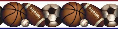 Play Ball Peel & Stick Border Wall Decal