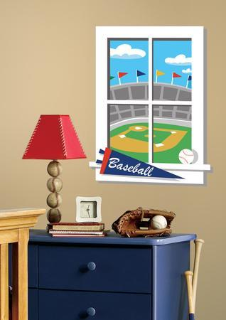 Play Ball Peel & Stick Window Wall Decal
