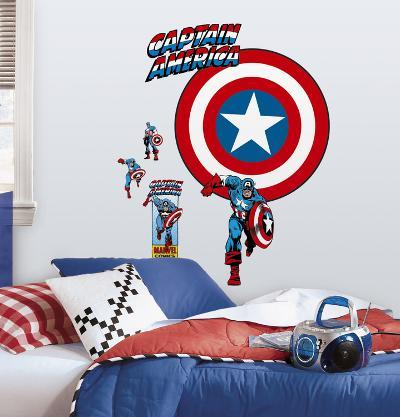 Captain America - Vintage Shield Peel & Stick Giant Wall Decal
