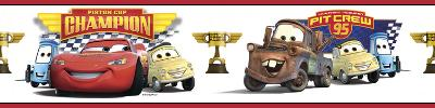 Cars - Piston Cup Champion Peel & Stick Border Wall Decal
