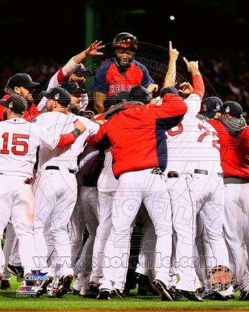 Boston Red Sox - David Ortiz, Shane Victorino, Dustin Pedroia, Jonny Gomes, John Lackey Photo