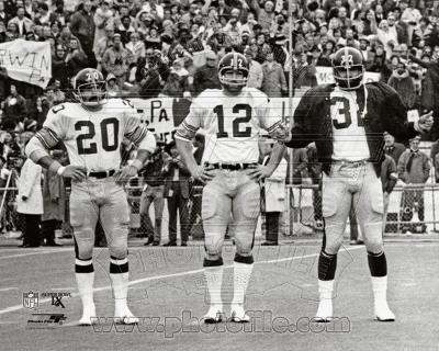 Pittsburgh Steelers - Franco Harris, Rocky Bleier, Terry Bradshaw Photo