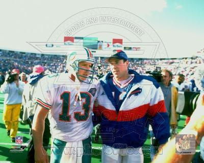 Buffalo Bills, Miami Dolphins - Jim Kelly, Dan Marino Photo