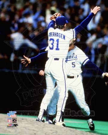 Kansas City Royals - George Brett, Bret Saberhagen Photo