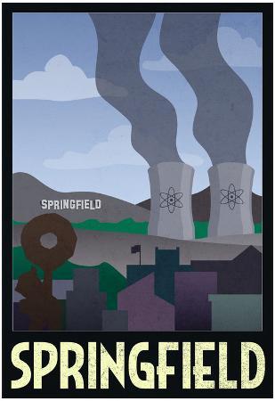 Springfield Retro Travel Poster