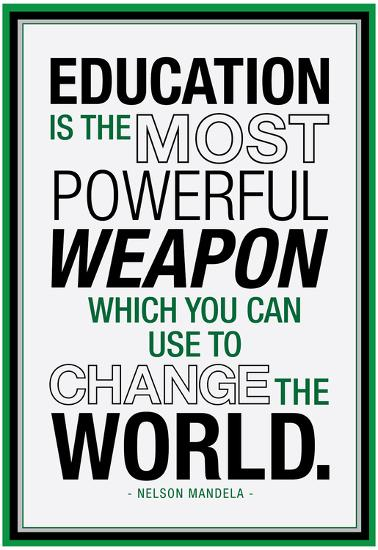 Education Nelson Mandela Quote Prints At Allposters