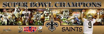 New Orleans Saints - Drew Brees Panoramic Photo
