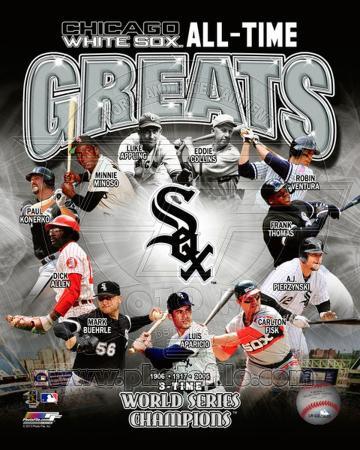 Chicago White Sox - Thomas, Ventura, Konerko, Fisk, Minoso, Pierzynski, Aparicio, Williams, Collins