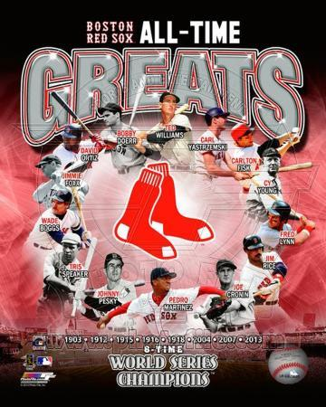 Boston Red Sox - Martinez, Boggs, Lynn, Williams, Yastrzemski, Fisk, Ortiz, Doerr, Foxx, Rice, Pesk