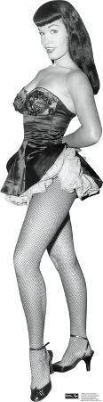 Bettie Page - Fish Net Nylons Lifesize Standup