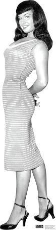 Bettie Page - Striped Dress Lifesize Standup