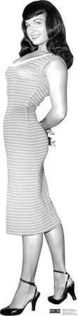 Bettie Page - Striped Dress Lifesize Standup