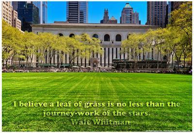 Walt Whitman Quote Bryant Park