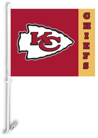 NFL Kansas City Chiefs Car Flag