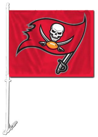 NFL Tampa Bay Bucaneers Car Flag with Wall Brackett
