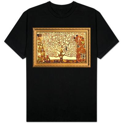 Gustav Klimt Tree of Life with Gilded Faux Frame Border