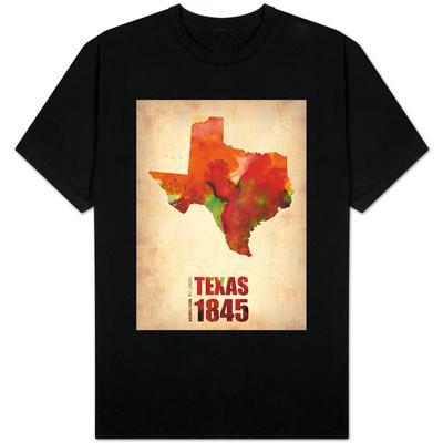 Texas Watercolor Map