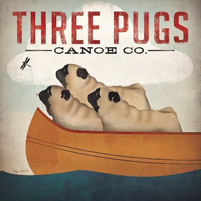 Three Pugs in a Canoe