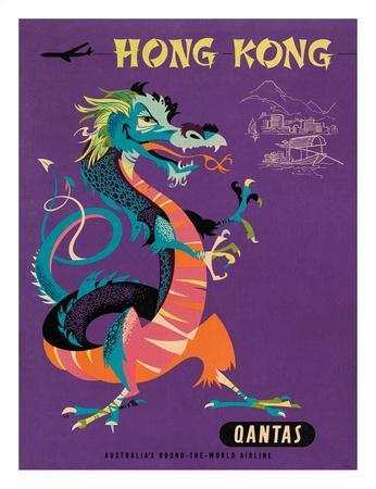 Hong Kong - Qantas Airways - Chinese Treasure Dragon