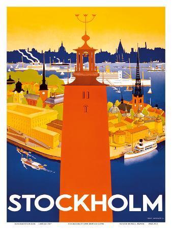 Stockholm - Sweden - Port of Stockholm and City Hall