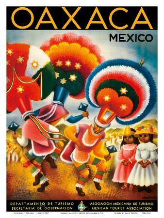 Oaxaca, Mexico - Costumed Native Dancers